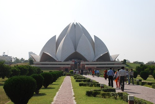Indian Bahá'�  (Lotus) Temple by Brajeshwar.