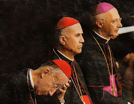 Camillo Ruini, Tarcisio Bertone, Angelo Bagnasco