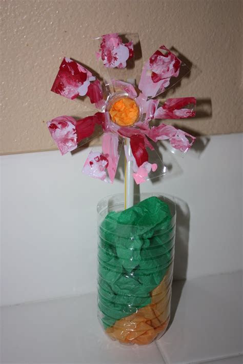 upcycled water bottle flower craft ideas pinterest