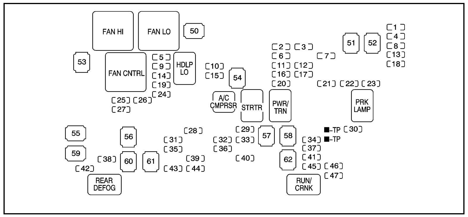 Hummer H2 2008 Fuse Box Diagram Auto Genius