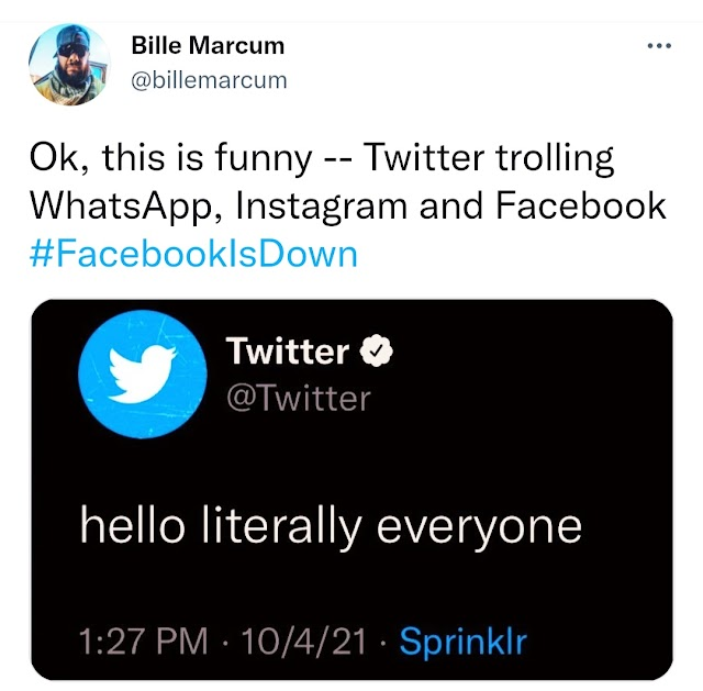 Funniest Tweets About Facebook, Instagram And WhatsApp Since They Are Down (Funny Photos)