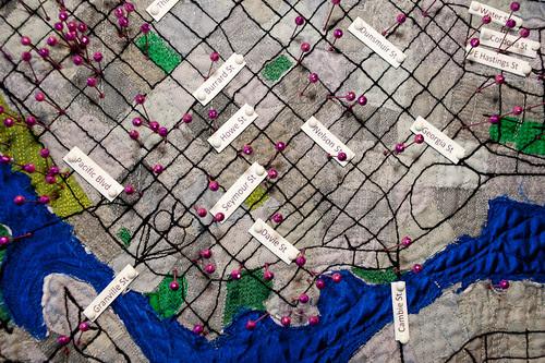 downtown closeup