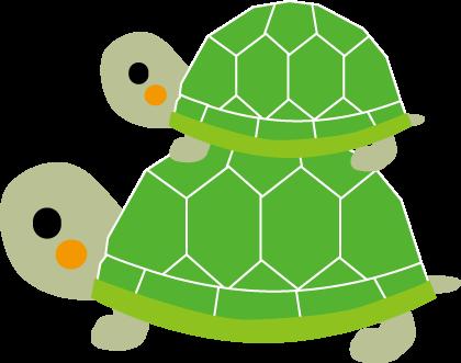 亀かめカメのイラスト無料イラスト