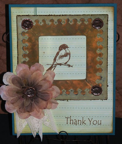 Ink Stained Roni's Stamps - Little Bird 005