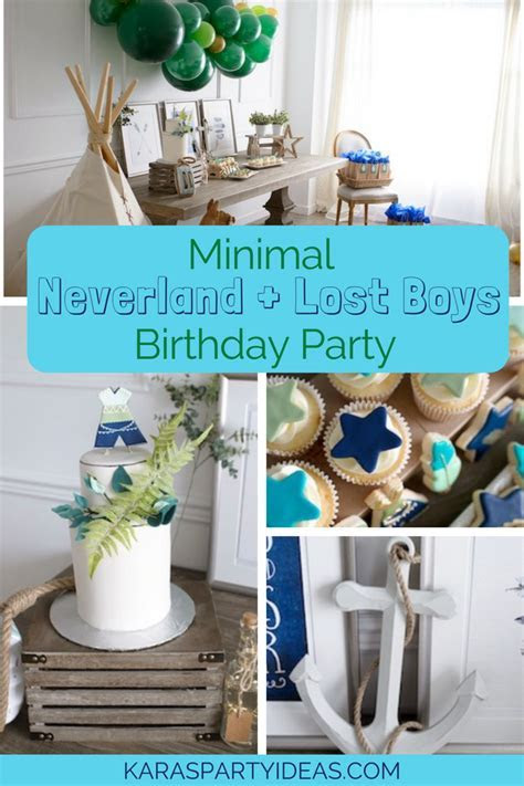 Kara's Party Ideas Minimal Neverland   Lost Boys Birthday