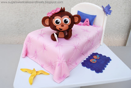 Justice for Girls Monkey Bed Cake