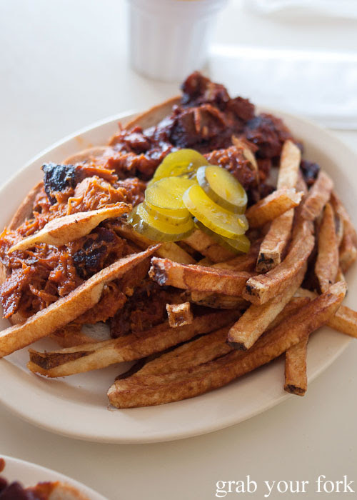 burnt ends pulled pork fries Arthur Bryant's beef brisket meat smoked barbecue bbq Kansas City Missouri