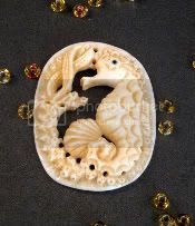 Hand Carved Seahorse Pendant
