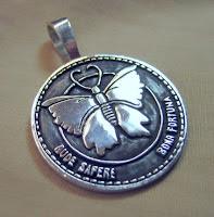Custom butterfly pendant in sterling silver by Payne's Custom Jewelry