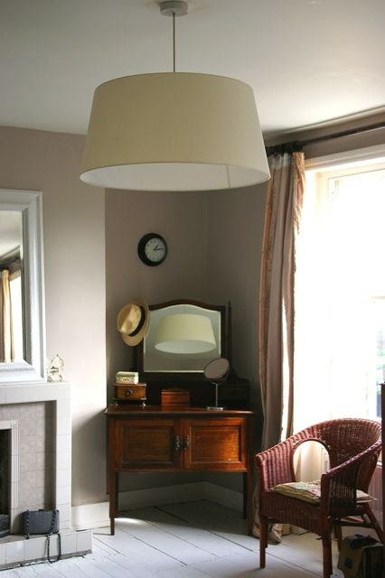 elephant breath paint (farrow & ball)  living room