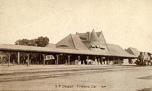 Railroad Depot in Fresno, California.
