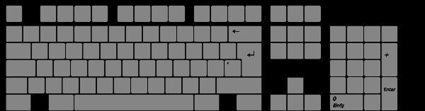 Keyboard Layout Clip Art at Clker.com - vector clip art online ...