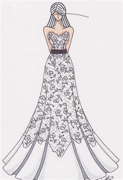 Mild Obsessions: wedding dress drawing