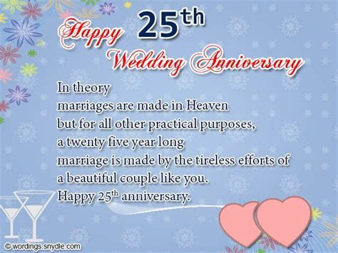 25th Wedding Anniversary Wishes, Messages and Wordings