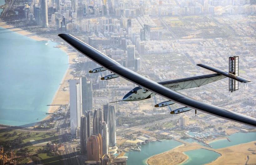 solar impulse 2 airplane flies around the world on just solar-power