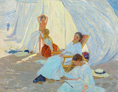 A Day by the Sea - Dorothea Sharp 1914