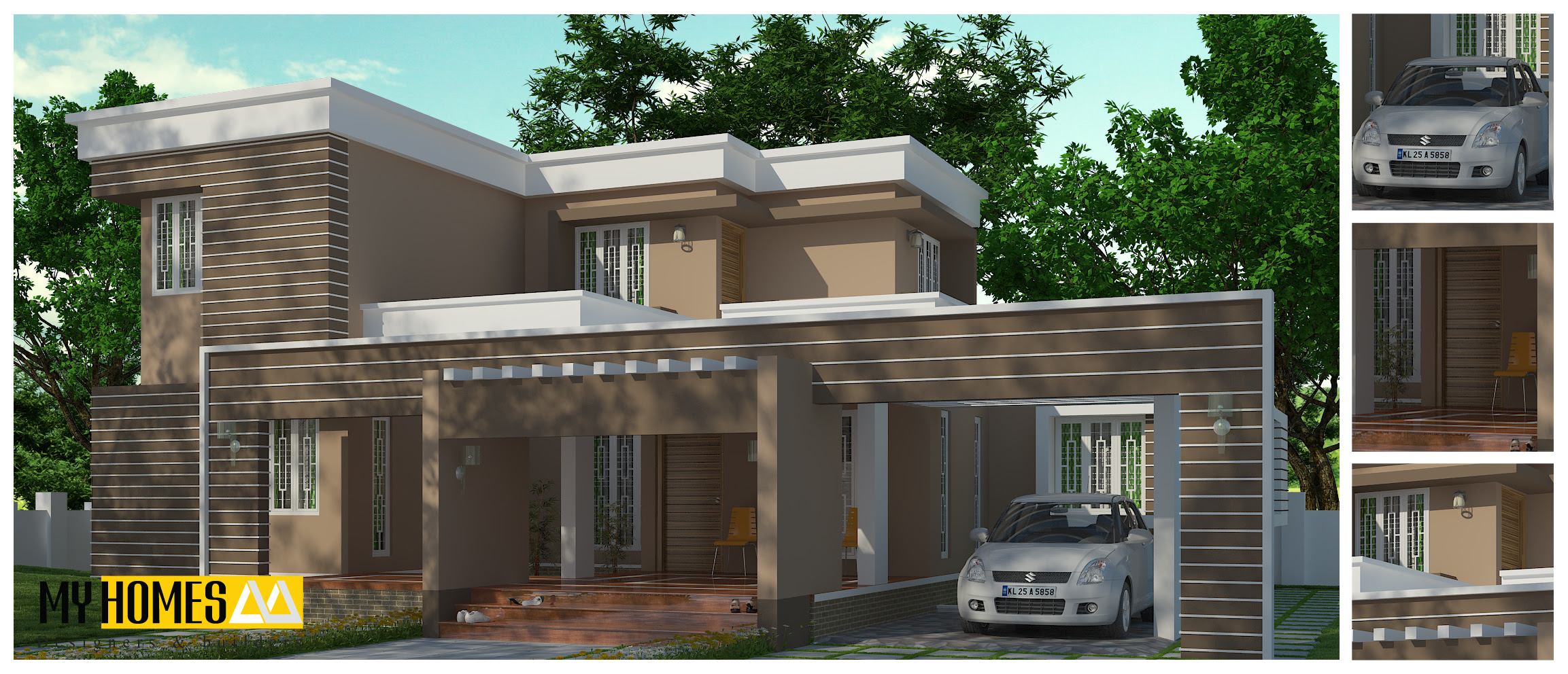 Kerala Contemporary House Deigns Plans Designing In Low Cost
