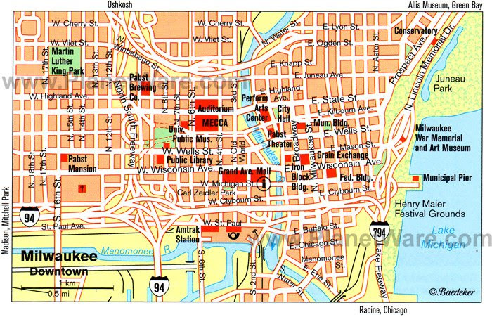 Milwaukee Map - Tourist Attractions