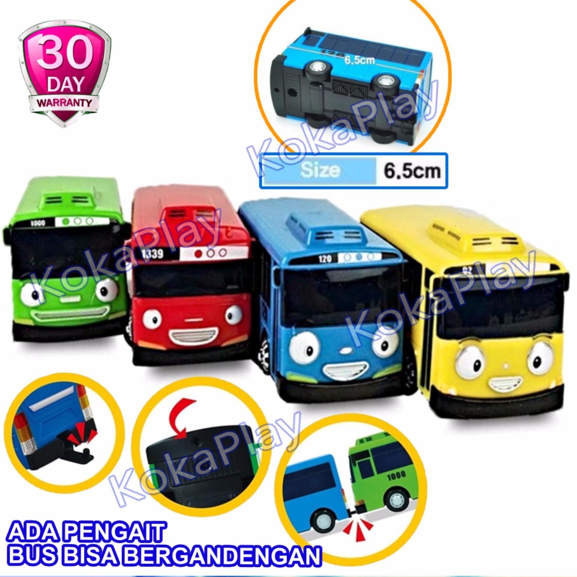 Hemat Tomindo Toys Tayo The Little Bus 1 Dus Is 4 Pcs Paking Dus Pull Back Car Play Set Mainan Anak Mobil Bis Karakter Tayo Rogi Lani Gani 9293 333 003