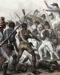 Esclavos haitianos luchando por la Independencia de los EE.UU.