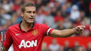 Manchester United captain Nemanja Vidic.