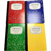 """Pallex Notebook, Wide Ruled, 200pgs, 9.75"""" x 7.5"""" - Multicolor, Multi-Colored"""