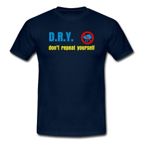 D.R.Y. - don't repeat yourself