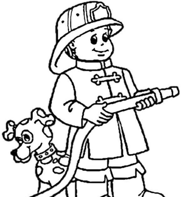 ausmalbilder feuerwehr  malvorlagen fur kinder