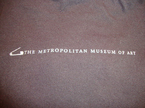 back of the shirt from the Punk exhibit