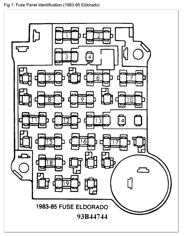 1984 Cadillac Eldorado Fuse Box Wiring Diagram General A General A Emilia Fise It