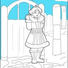 Dibujos Para Colorear Princesa De Hielo Eshellokidscom