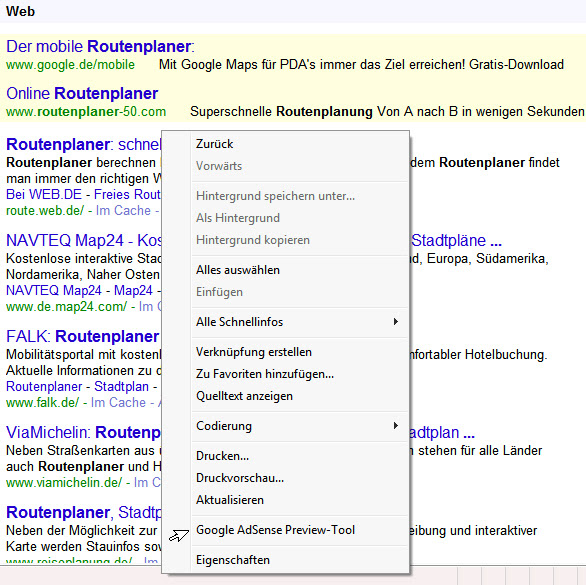 Das Google AdSense Preview-Tool, im MS-iExplorer-8 eingebunden-06