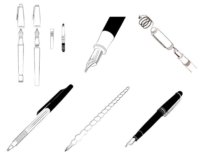 エイ出版万年筆のすべてイラスト描かせていただきました