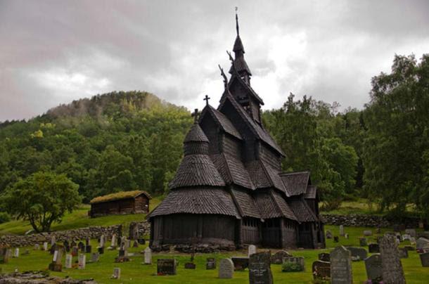 Borgund Stave Church, Laerdal, Sogn og Fjordane County, Western Norway