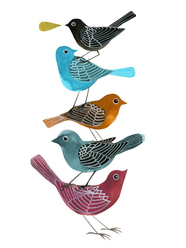 Five Little Birds