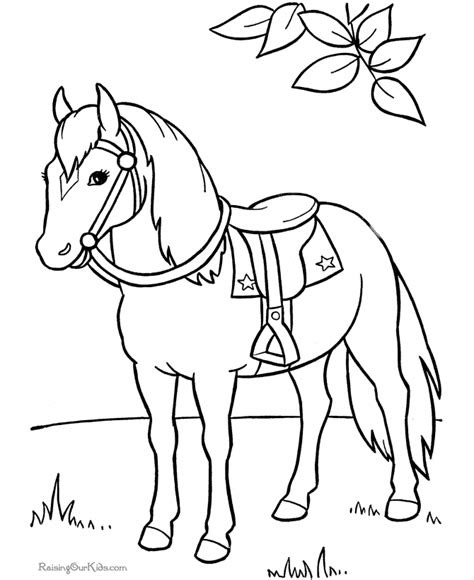 horse coloring pages getcoloringpagescom