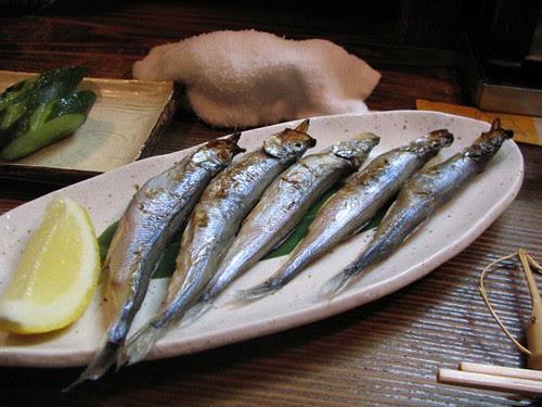 Dinner in Japanese style bar