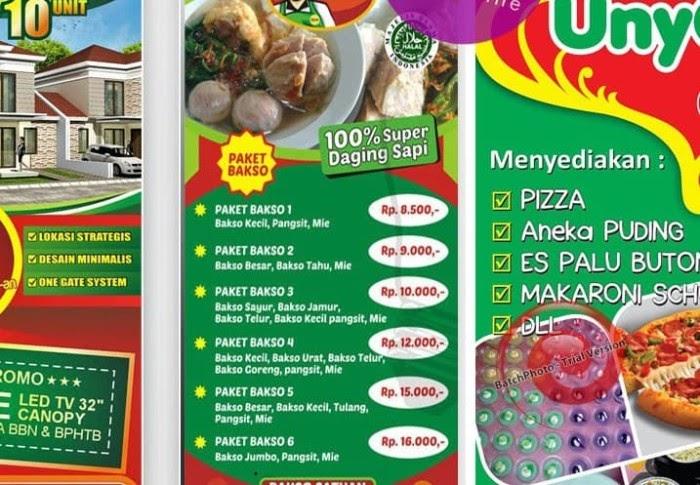 Desain Spanduk Promosi Makanan - desain banner kekinian