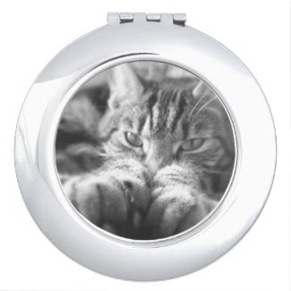 Athena Wise Kitty Compact Mirror
