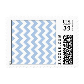 Light Blue and White Zigzag Stamp