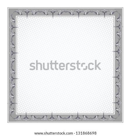 Blank Diploma Frame Template 5 Stock Vector Illustration 131868698 ...