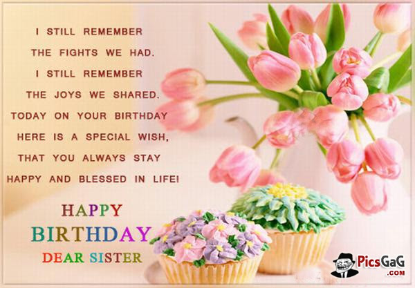 Happy Birthday Sister Quote Quote Number 551653 Picture Quotes