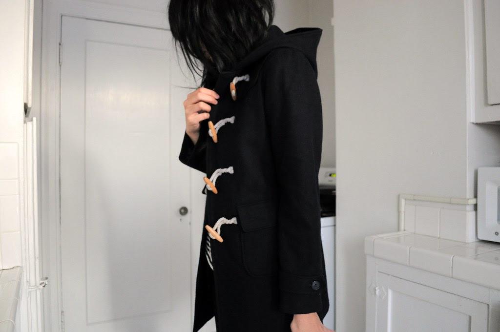 vintage duffle coat