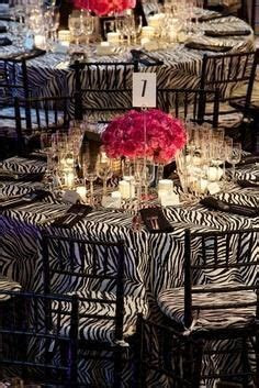 Zebra Wedding Table Decoration. http://memorablewedding