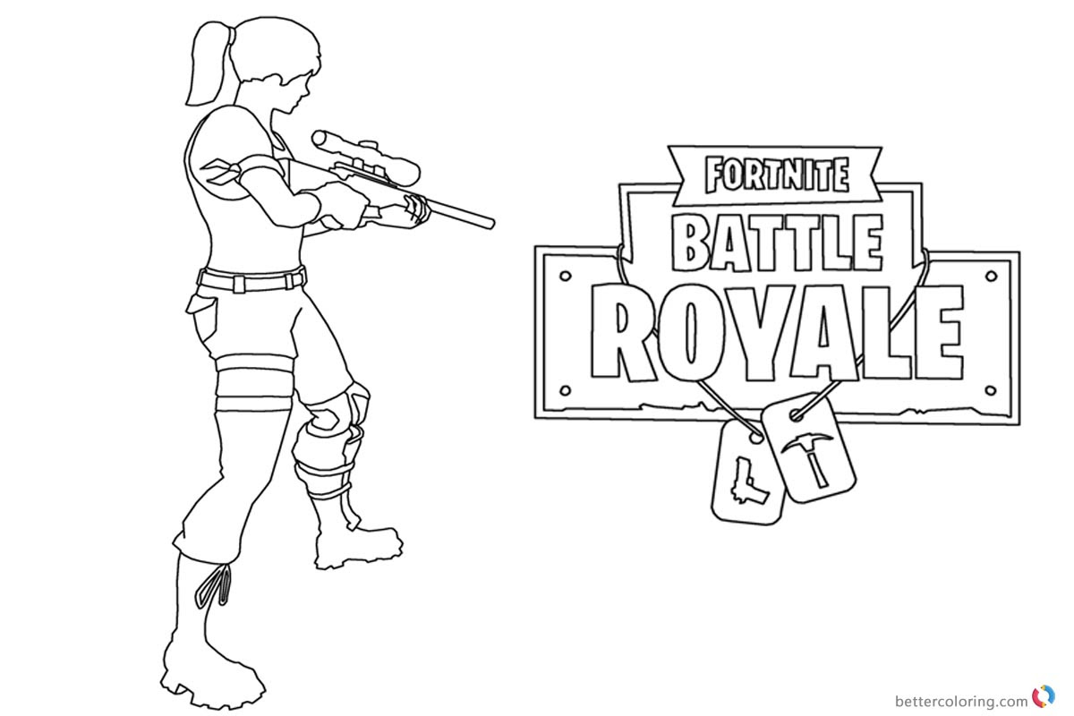 Fortnite Coloring Pages Pictures To Pin On Pinterest Thepinsta