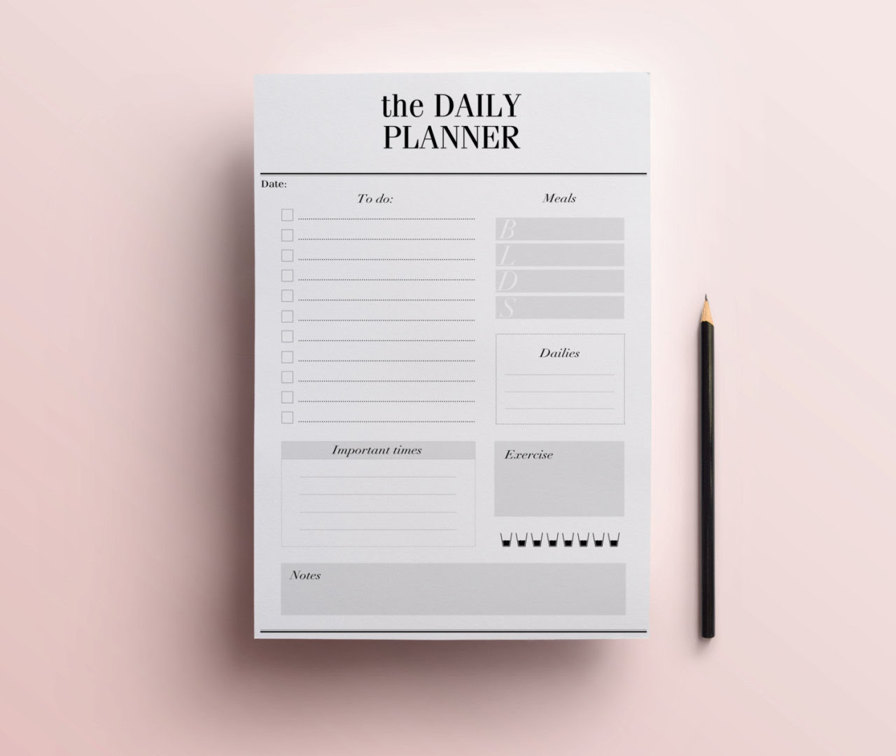 Digital Art For All You Robots — Daily Planner Printable - Stylish ...