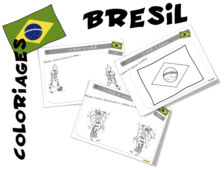 Les coloriages Bout de gomme sur le Brésil ici