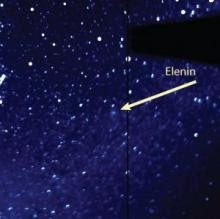 Doomsday Comet Elenin as it appeared on the night of August 1, 2011.