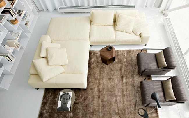 Modern living room couch by Busnelli | Minimalisti.