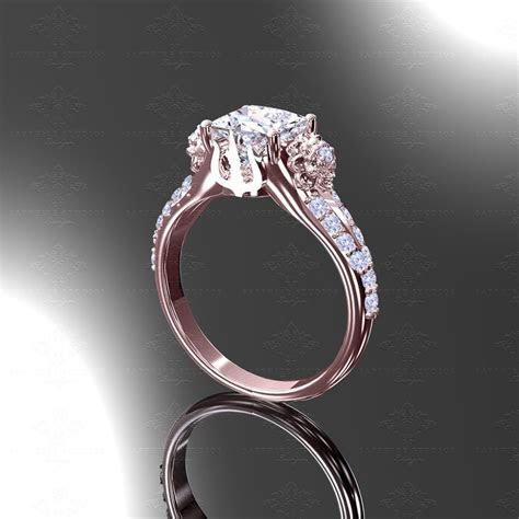 'Eternal' Rose Gold Inspired Final Fantasy Engagement Ring